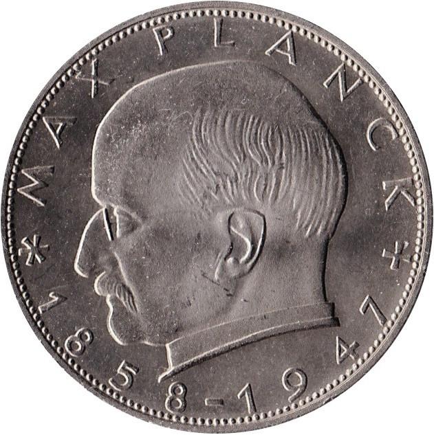 Germany 2 Deutsche Mark (Max Planck)