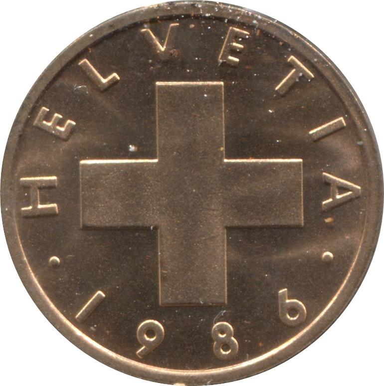 Switzerland 1 Rappen