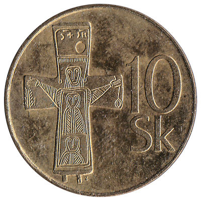 Slovakia 10 Koruna (Gold-Coloured)