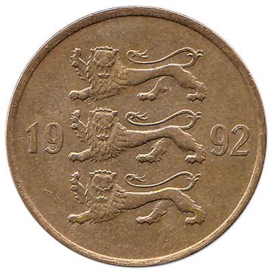 Estonia 20 Senti (Gold Colored)