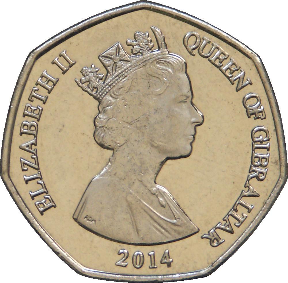 Gibraltar 50 Pence
