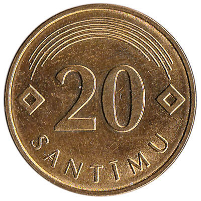 Latvia 20 Santimu