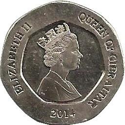 Gibraltar 20 Pence
