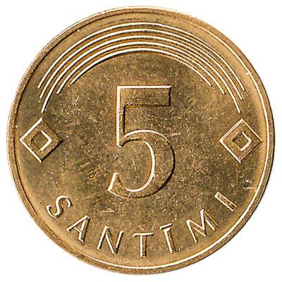 Latvia 5 Santimi