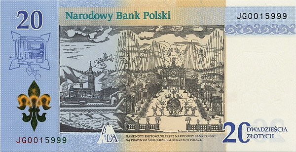 Poland 20 Zlotych (300th Anniversary)