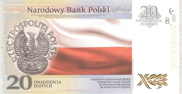 Poland 20 Zlotych (100th Anniversary of Polish Independence)