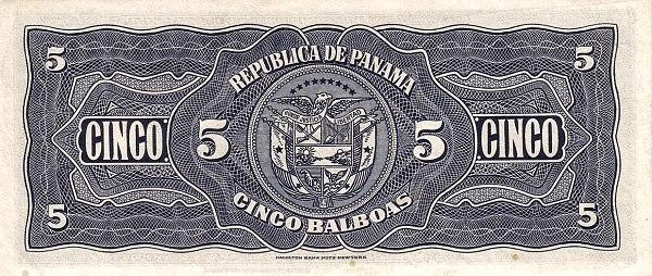 Panama 5 Balboas