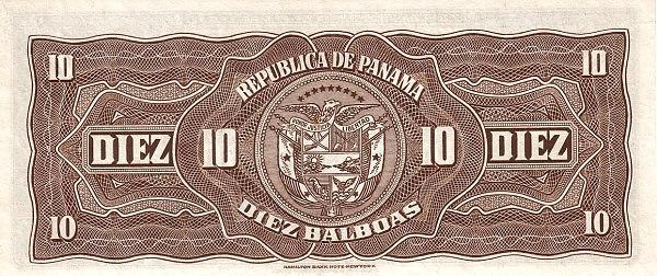 Panama 10 Balboas