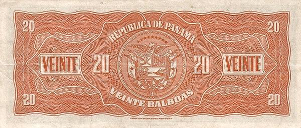 Panama 20 Balboas