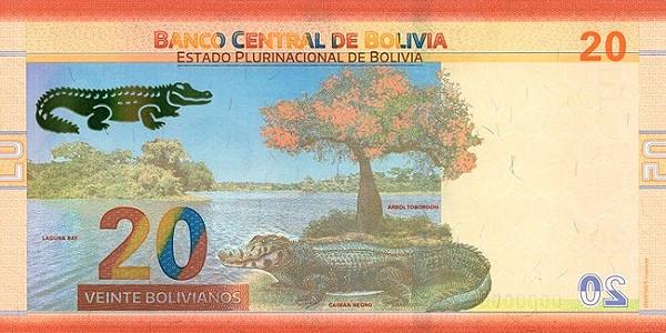 Bolivia 20 Bolivianos