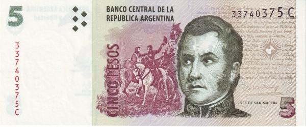 Argentina 5 pesos