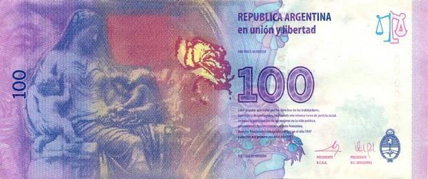 Argentina 100 Pesos (Eva Peron)