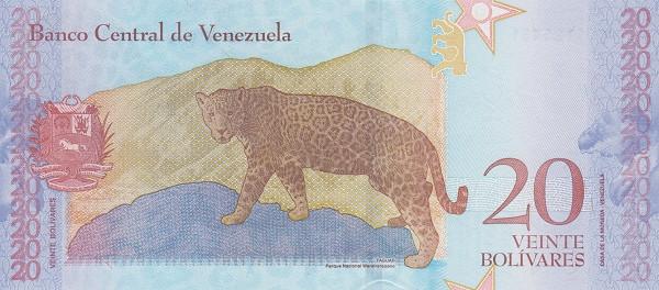 20 Venezuela Bolivar Soberanos