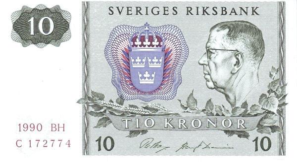 Sweden 10 Kronor(1963-1990)