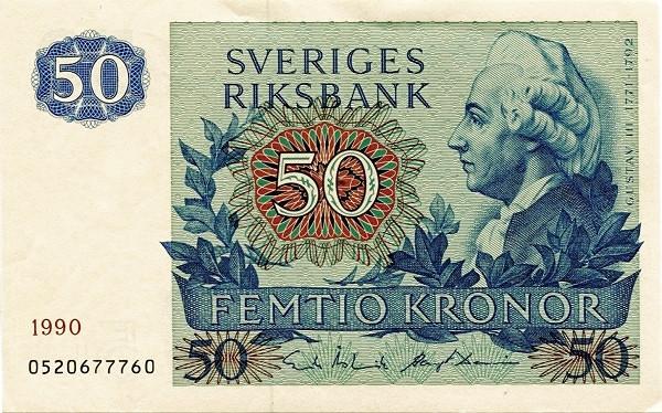 Sweden 50 Kronor(1963-1990)