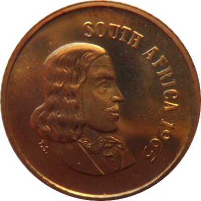 South Africa 1 Cent (English Legend 1965-1969)