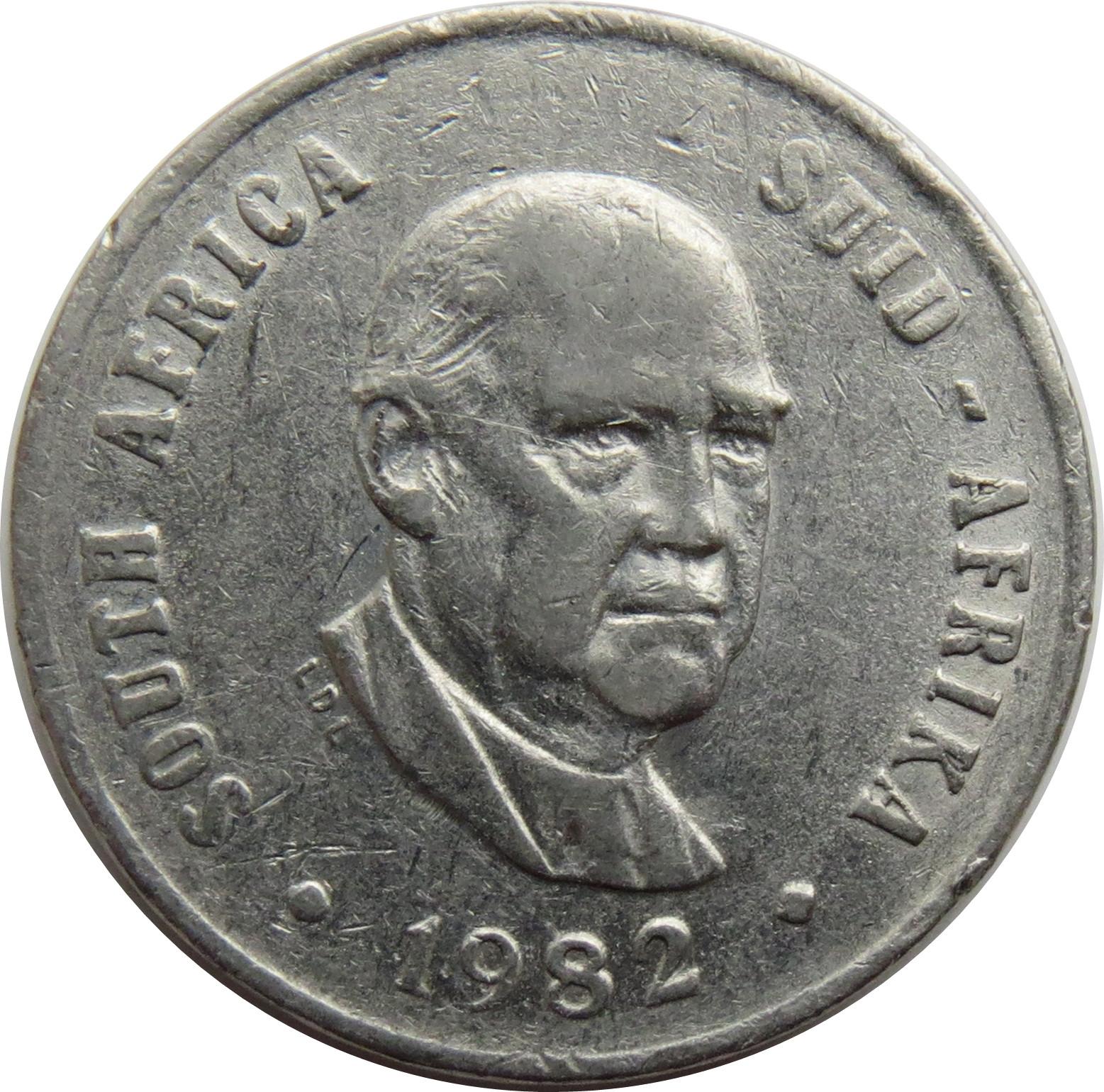 South Africa 10 Cents (Balthazar J. Vorster)