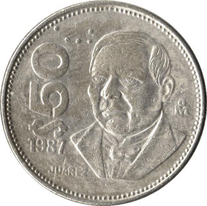 Mexico 50 Pesos (Benito Pablo Juárez García 1984-1988)