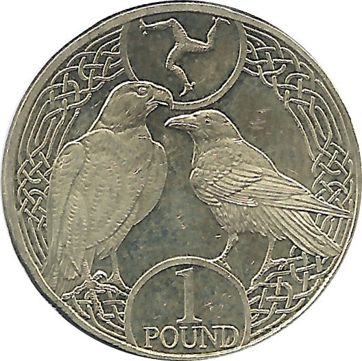 Isle of Man 1 Pound  (Elizabeth II)