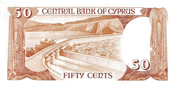 Cyprus 50 Cents  (1982-1988)