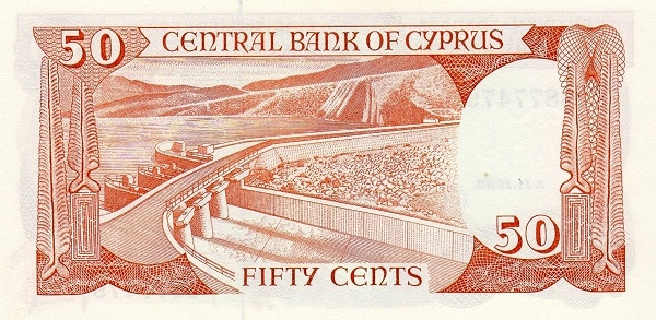 Cyprus 50 Cents  (1987-1996)