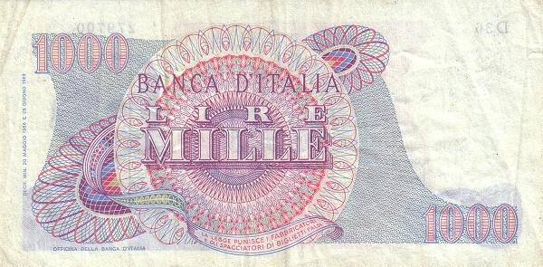 Italy 1000 Lire (1962-1974)