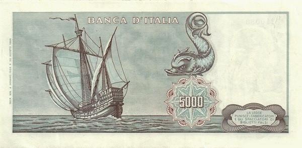 Italy 5000 Lire (1962-1974)