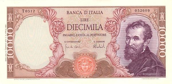 Italy 10000 Lire (1962-1974)