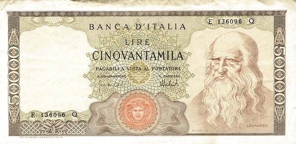 Italy 50000 Lire (1962-1974)