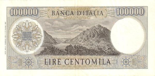 Italy 100000 Lire (1962-1974)