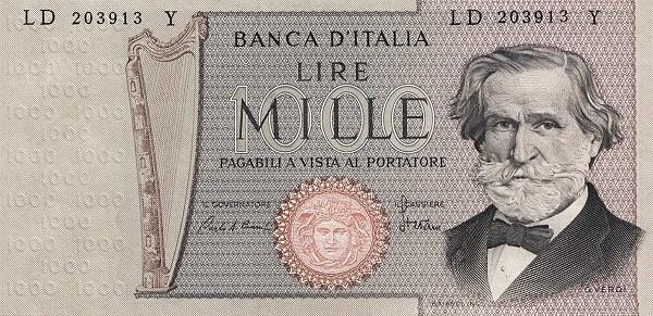Italy 1000 Lire (1969-1983)