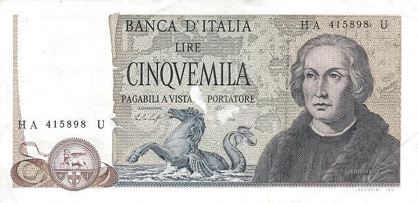 Italy 5000 Lire (1969-1983)
