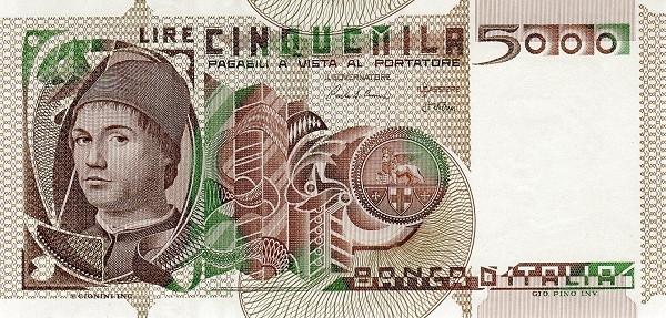 Italy 5000 Lire (1976-1984)
