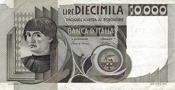 Italy 10000 Lire (1976-1984)