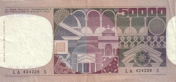 Italy 50000 Lire (1976-1984)