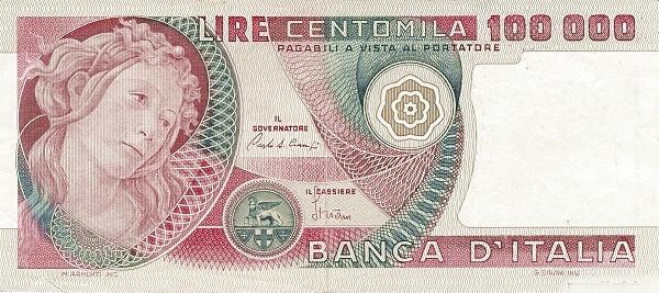 Italy 100000 Lire (1976-1984)