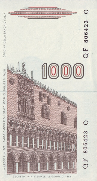 Italy 1000 Lire (1982-1983)