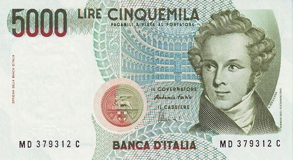 Italy 5000 Lire (1984-1985)