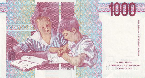 Italy 1000 Lire (1990-1997 )