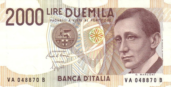Italy 2000 Lire (1990-1997)