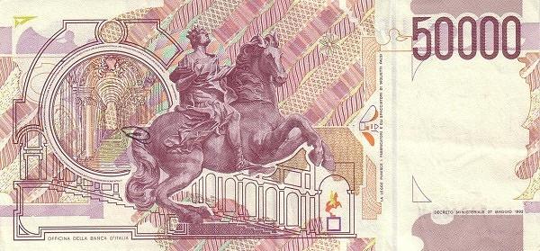 Italy 50000 Lire (1990-1997)