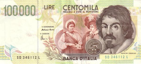 Italy 100000 Lire (1990-1997)