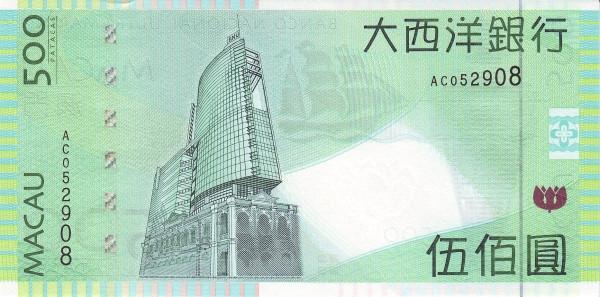 Macau 500 Patacas