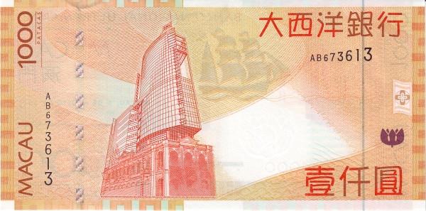 Macau 1000 Patacas