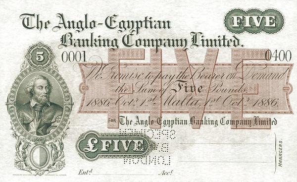 Malta 5 Pounds (1866)