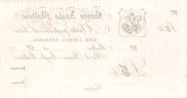 Malta 5 Lire (Banco Anglo Maltese)