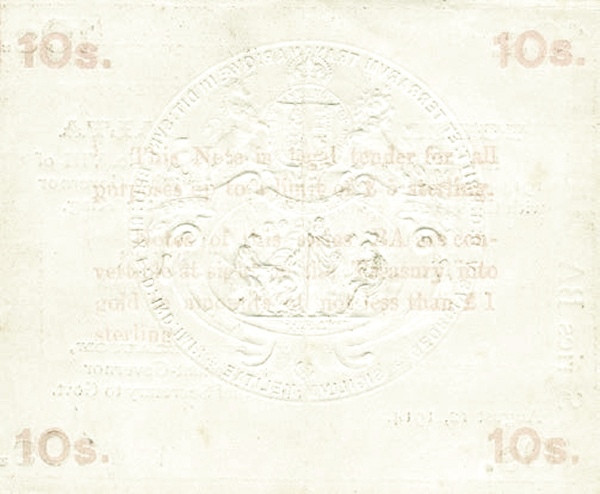 Malta 10 Shillings (August 1914)