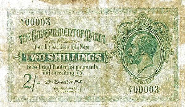 Malta 2 Shillings (1918  George VI)