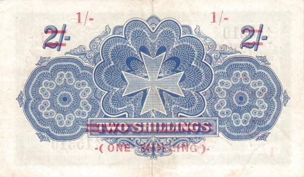 Malta 1 Shilling (1940 Provisional George V)