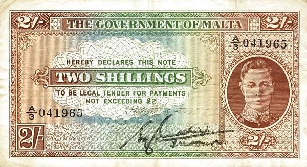 Malta 1 Shilling (1943 George VI)